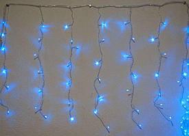 Гирлянда мини-штора внутренняя Занавес, бахрома 3м х 0,7м, 140 Led, синяя - 189697