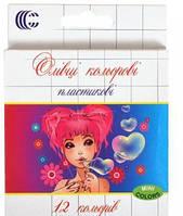 Цветные карандаши мини 12 оттенков Девочка 2