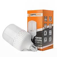Лампа светодиодная высокомощная ЕВРОСВЕТ 25Вт 6400К EVRO-PL-25-6400-27 Е27