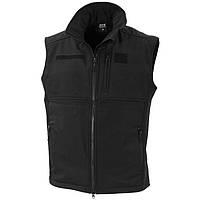 Теплый жилет-куртка с флисовой подкладкой Soft Shell MFH 04165A черный унисекс