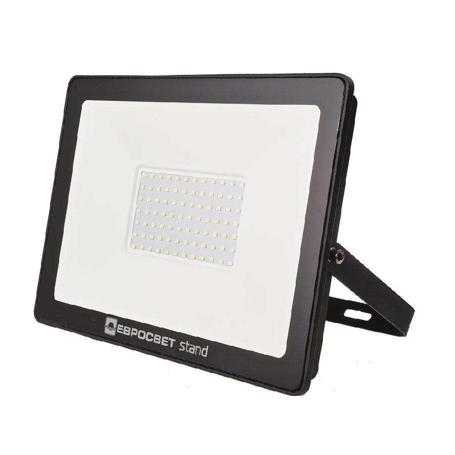Прожектор светодиодный ЕВРОСВЕТ 100Вт 6400К EV-100-504 STAND 8000Лм