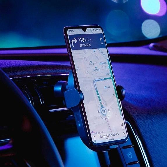 Xiaomi Mi Qi Car Wireless Charger 20W Пластик Решетка вентиляции Зажим