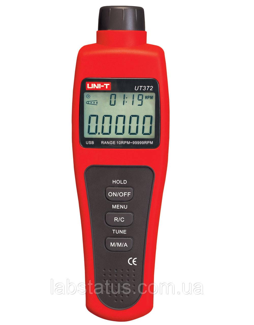 Безконтактний лазерний тахометр UNIT UT372 (від 10 до 99999 об./хв) з USB-інтерфейсом