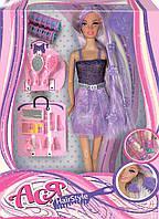 Модные прически, набор с куклой 28 см, блондинка в фиолетовом, Ася (35063)