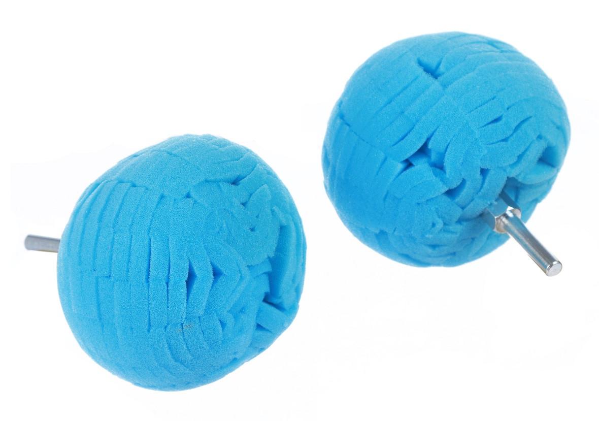 Полировальный шар на дрель полутвёрдый для дисков и пр