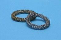 Массажное кольцо Су Джок малое для кисти / ладони омедненное, никелированное