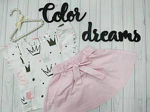 Детский костюм Кофточка +юбка для девочки до 7 лет
