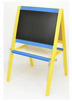 Мольберт 60х40х100 желто-синий