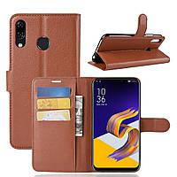 Чехол-книжка Litchie Wallet для Asus Zenfone 5 / 5Z(ZE620KL / ZS620KL) Коричневый