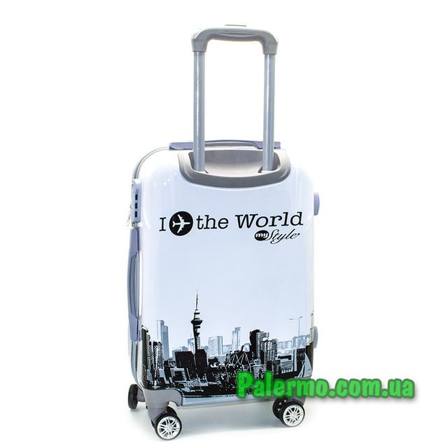 пластиковый дорожный чемодан I ✈️ the World