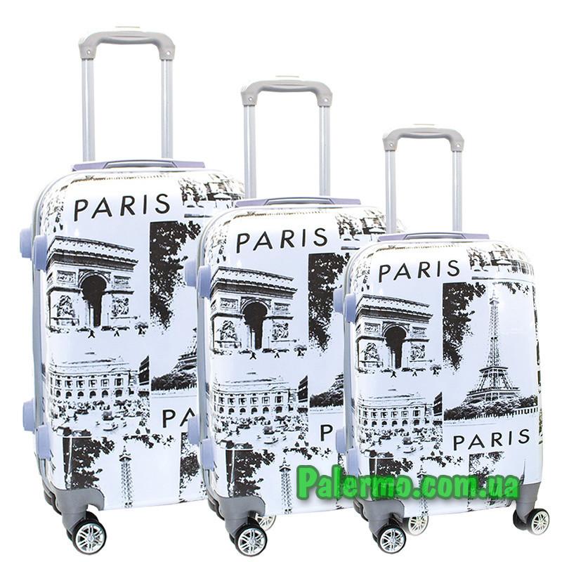 Набор пластиковых чемоданов на колесах (комплект из трех чемоданов) Paris