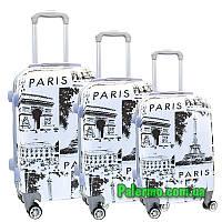 Набор пластиковых чемоданов на колесах (комплект из трех чемоданов) Paris, фото 1