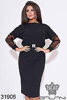 Нарядное платье  -31905  черный с 48 по 62  размер (бн)