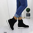 Демисезонные женские ботинки черного цвета, из эко замши 36 37 последние размеры, фото 3
