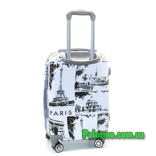пластиковый дорожный чемодан Париж