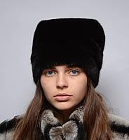 Женская норковая шапка кубанка высокая, фото 1