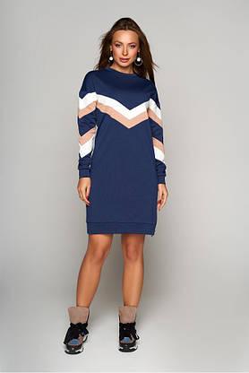 Теплое осеннее платье из шерстяного трикотажа, фото 3