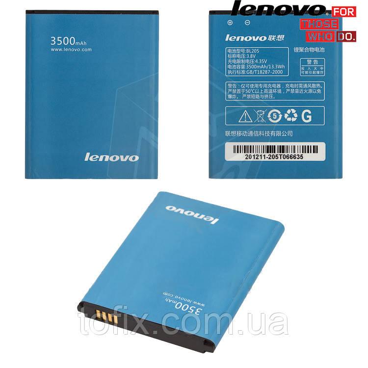 Батарея (акб, аккумулятор) BL205 для Lenovo P770, 3500 mAh, оригинал