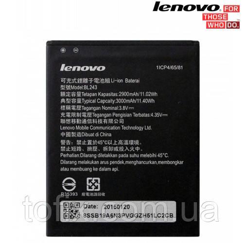 Батарея (акб, аккумулятор) BL243 для Lenovo A7000, 3000 mAh, оригинал
