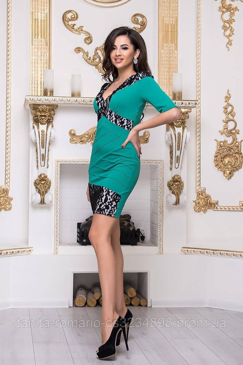 Повседневное платье 3236e Зелёный M(р)
