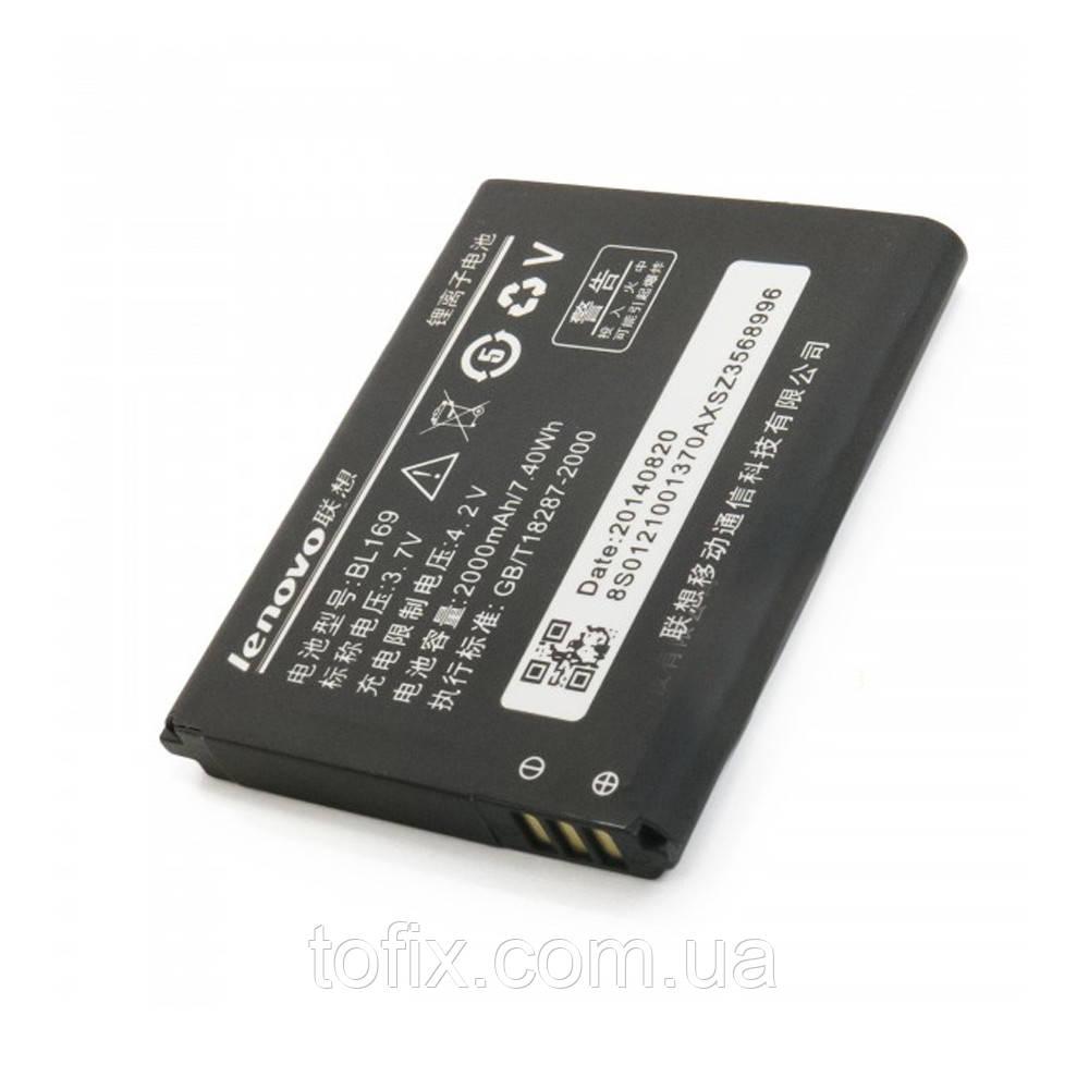 Батарея (акб, аккумулятор) BL169 для Lenovo P800, 2000 mAh, оригинал