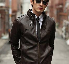 Куртка искусственная кожа pu мужская, фото 2
