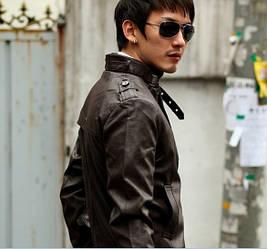 Куртка искусственная кожа pu мужская, фото 3