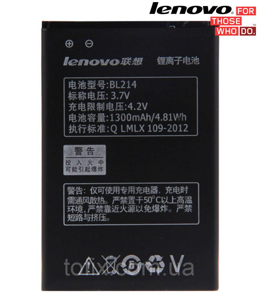 Батарея (акб, аккумулятор) BL214 для Lenovo A269, A269i IdeaPhone, 1300 mAh, оригинал