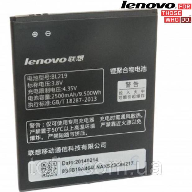 Батарея (акб, аккумулятор) BL219 для Lenovo A850+ IdeaPhone, 2500 mAh, оригинал