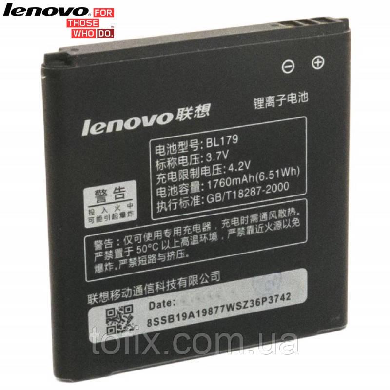Батарея (акб, аккумулятор) BL179 для Lenovo A370 IdeaPhone, 1760 mAh, оригинал
