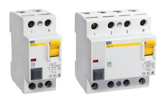 Дифференциальные выключатели IEK