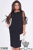 Нарядное платье  -31906  черный с 48 по 62  размер (бн)