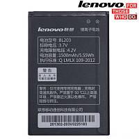 Батарея (акб, аккумулятор) BL203 для Lenovo A396 IdeaPhone, 1500 mAh, оригинал
