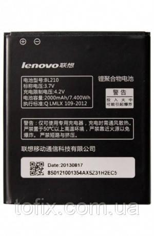 Батарея (акб, аккумулятор) BL210 для Lenovo S650, 2000 mAh, оригинал