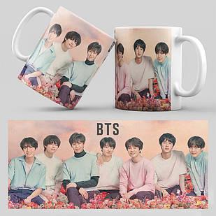 Чашка 330 мл. белая K-Pop BTS 002