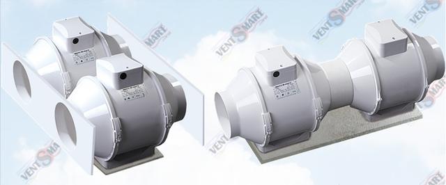 Параллельное и последовательное подключение вентиляторов ВЕНТС ТТ ПРО 250