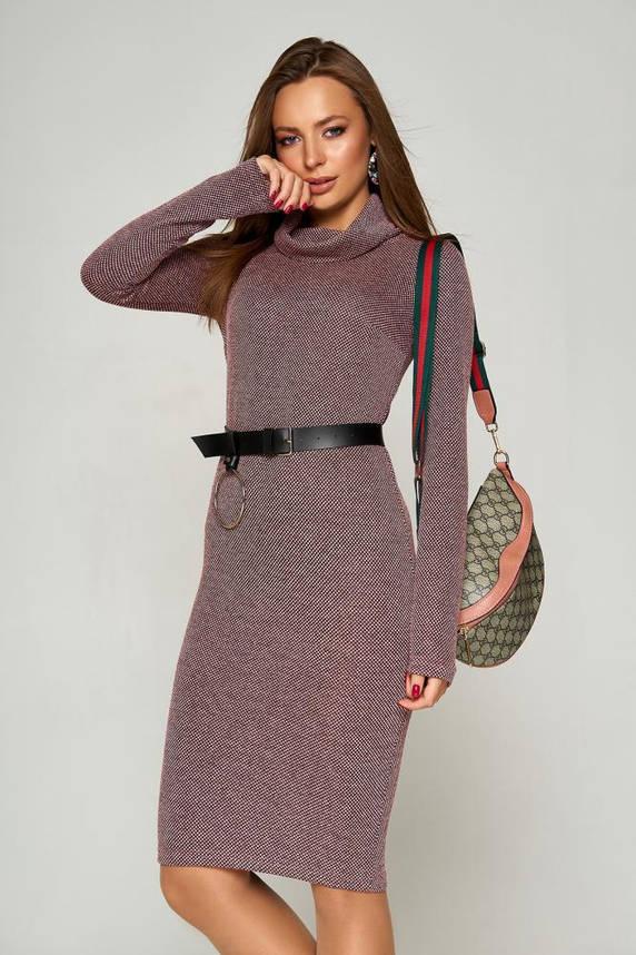 Теплое осеннее платье гольф твидовое, фото 2
