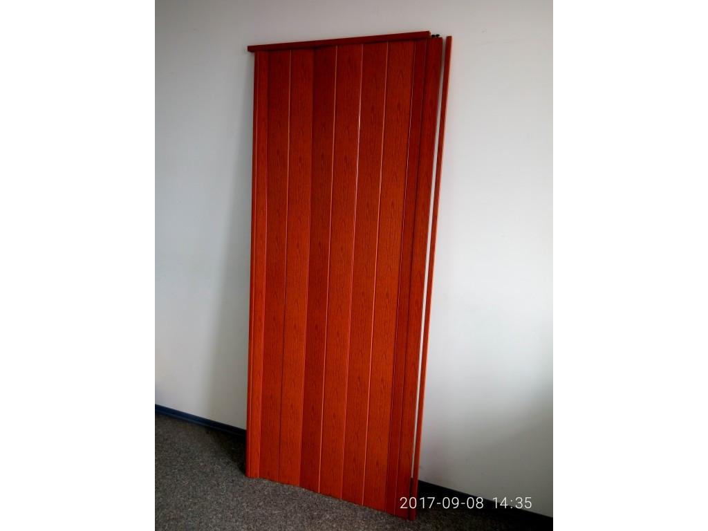 Дверь гармошка межкомнатная глухая метровая, ольха красная 266, 1000*2030*6 мм
