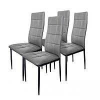 Набор из 4 стульев для кухни и бара GoodHome F261B серый (9078)
