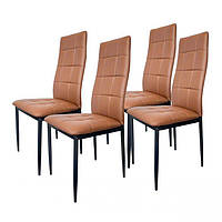 Набор из 4 стульев для кухни и бара GoodHome F261B коричневый (9079)