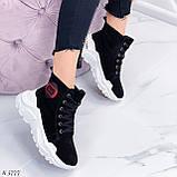 Кроссовки ЗИМА женские черные натуральная замша, фото 8
