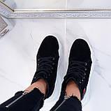 Кроссовки ЗИМА женские черные натуральная замша, фото 9