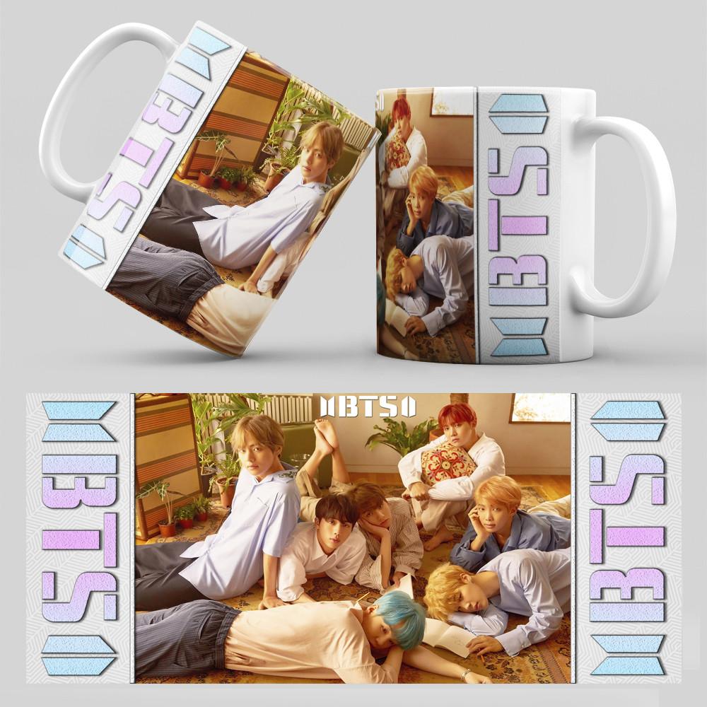 Чашка 330 мл. белая K-Pop BTS 004