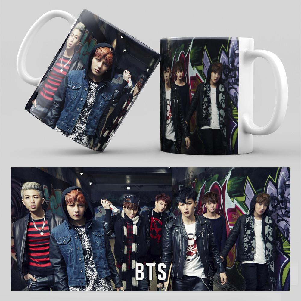 Чашка 330 мл. белая K-Pop BTS 020