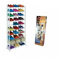 Полка для обуви, органайзер, стеллаж Amazing Shoe Rack на 30 пар, фото 1