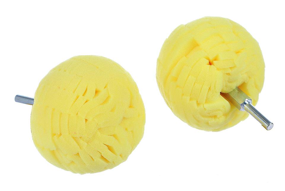 Полировальный шар на дрель твердый для дисков и пр