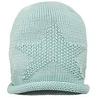 Детская шапка демисезонная вязаная для девочки