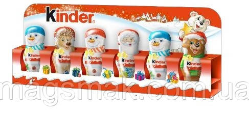 Шоколадные фигурки  Дед Мороз и помощники Kinder, 90 г + Сертификат соответствия