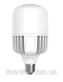 Лампа світлодіодна високопотужна ЕВРОСВЕТ 60Вт 6400К (VIS-60-E40)