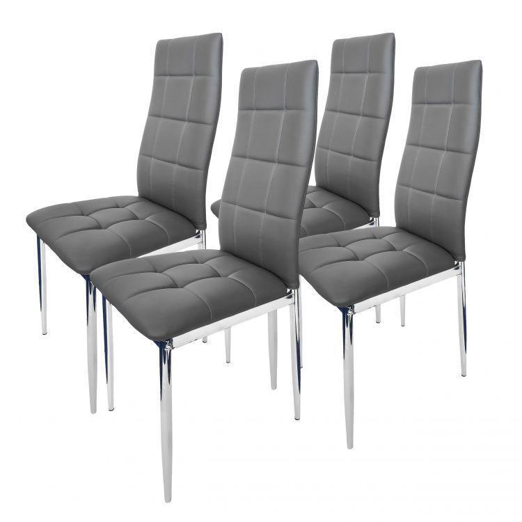 Набор из 4 стульев для кухни и бара GoodHome F261C серый (9081)